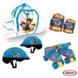 Patines 4 ruedas Paw Patrol casco y protecciones