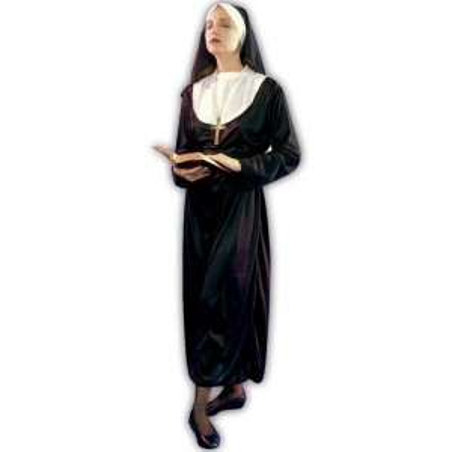 Monja religiosa adulta disfraz