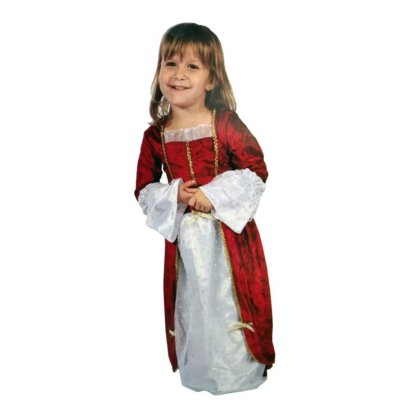 Disfraz de Princesa Rojo XS