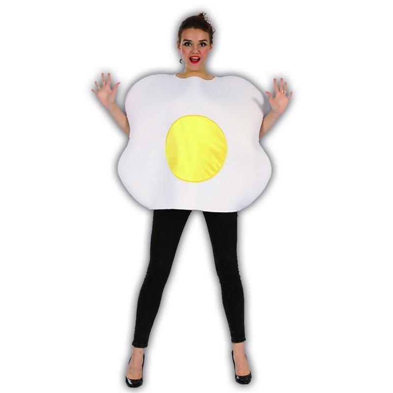 Huevo frito disfraz adulto