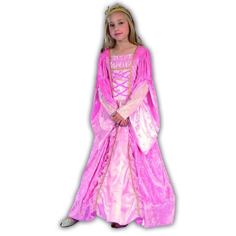 M Princesa rosa infantil disfraz