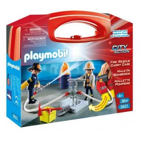 Maletín Grande Bomberos Playmobil
