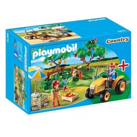 Puesto de Fruta con Tractor Playmobil