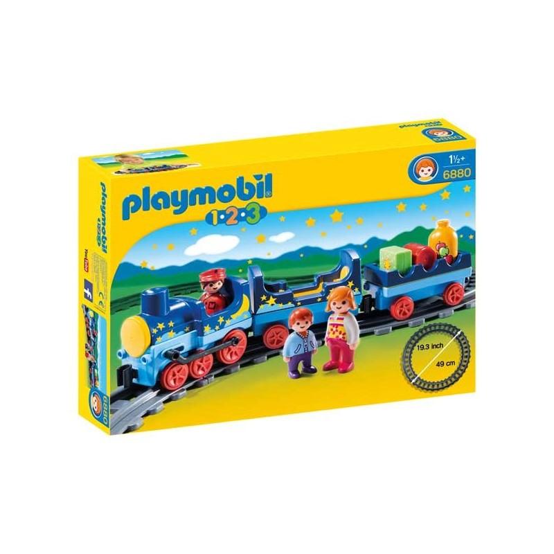 Tren con Vías 1.2.3 Playmobil