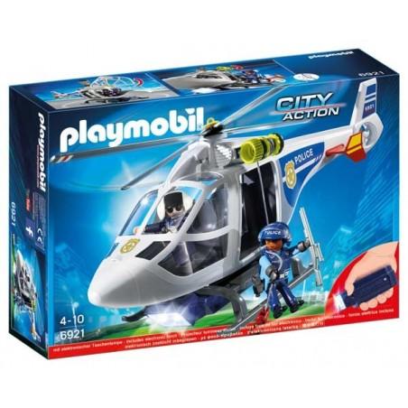 Helicóptero Policía con Luces LED Playmobil