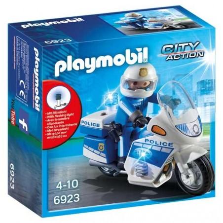 Moto Policía con LED Playmobil