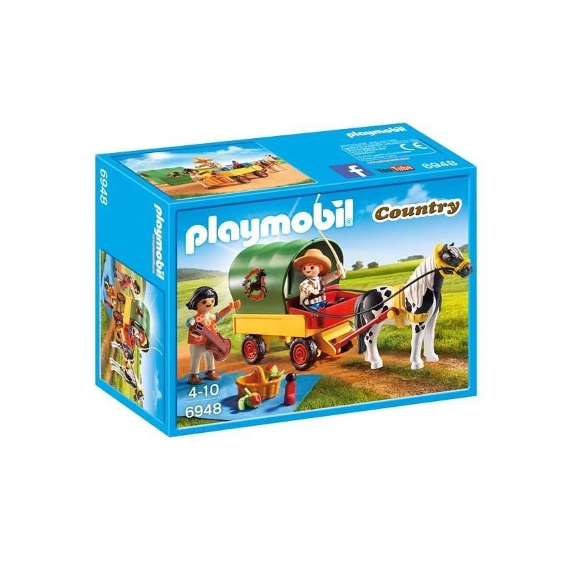 Picnic con Poni y Carro Playmobil