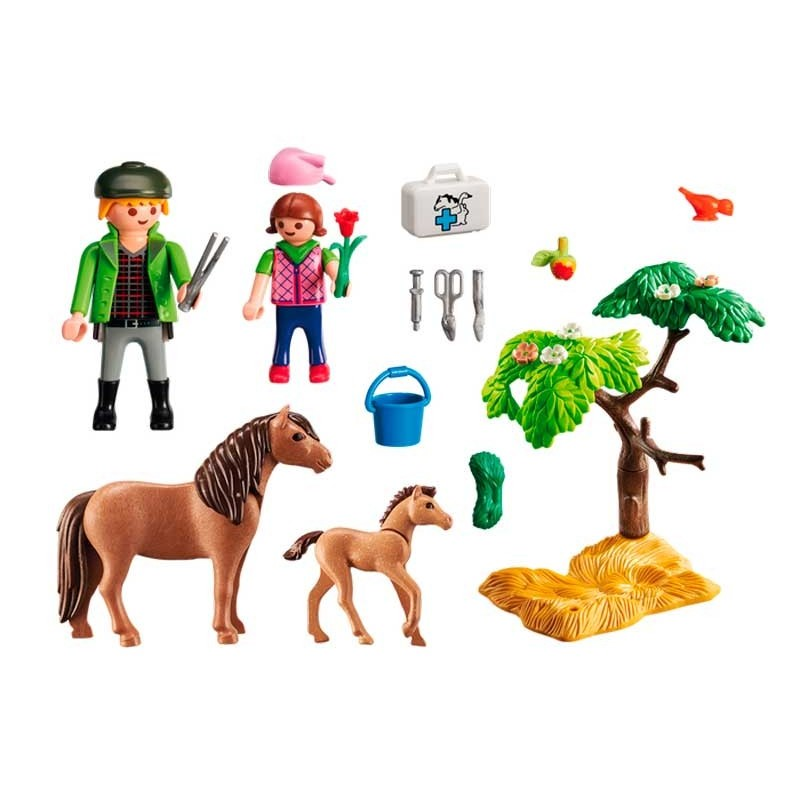 Playmobil Country Veterinario con Ponis