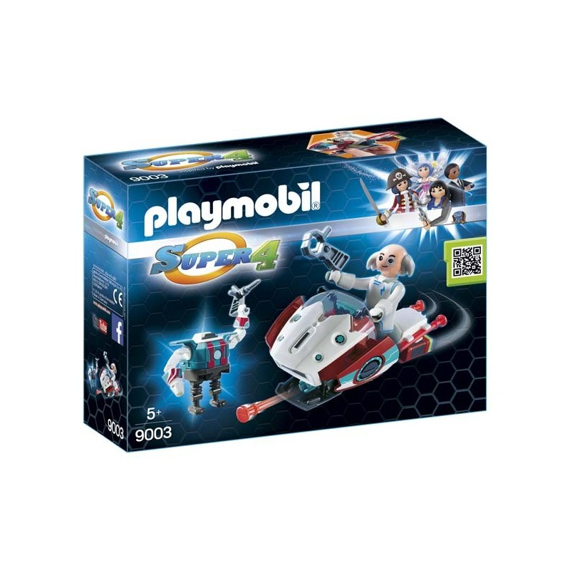 Skyjet con Dr. X y Robot Playmobil