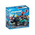 Playmobil City Action Ladron con Quad y Botin