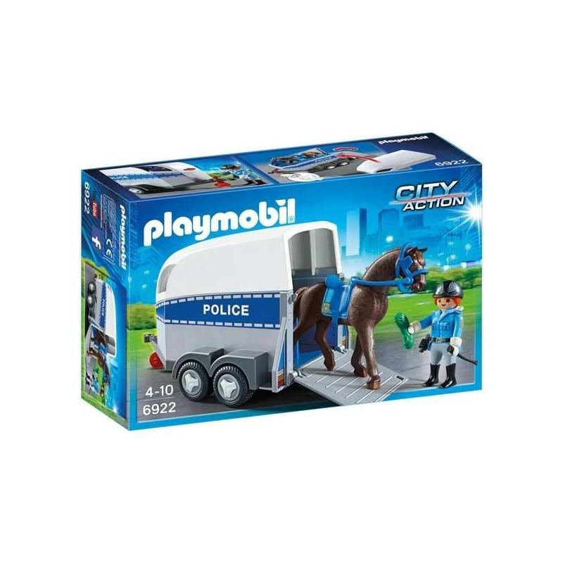 Policía con Caballo y Remolque Playmobil