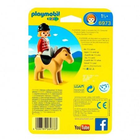 Playmobil 1.2.3. Jinete con Caballo