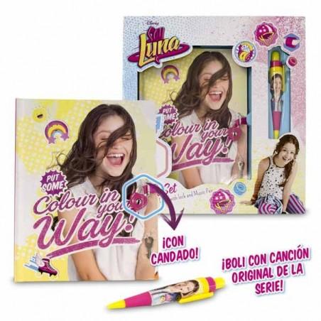 Diario con Candado y Boli Músical Soy Luna
