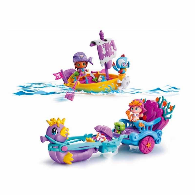 Pinypon Carruaje de Sirenas y Barco Pirata