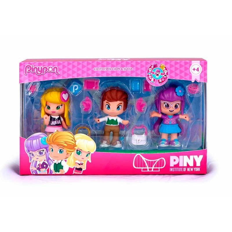 Pinypon Pack 3 figuras PINY