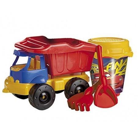 Camión Cubo Castillo Cars 3 + Pala y Rastrillo