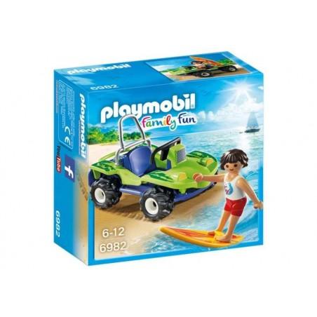 Playmobil Family Fun Surfista con Buggy