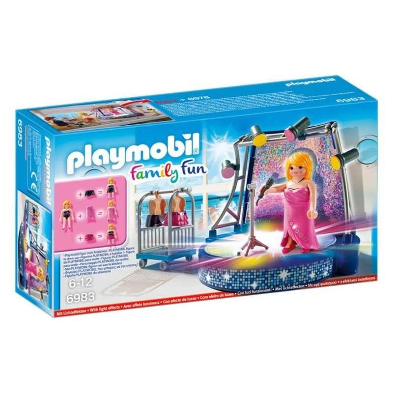 Playmobil Family Fun Cantante con Escenario