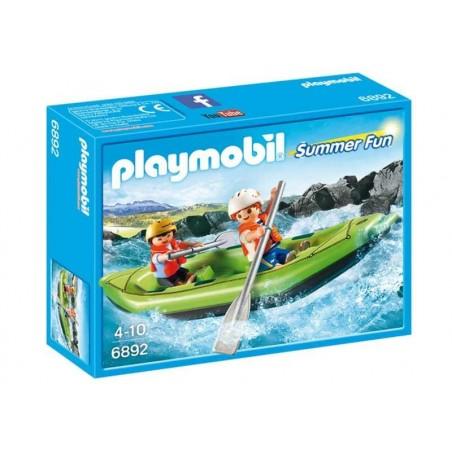 Playmobil Summer Fun Niños en Balsa Rafting