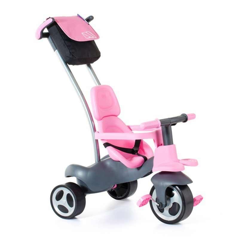 Triciclo Rosa con Rueda de Goma