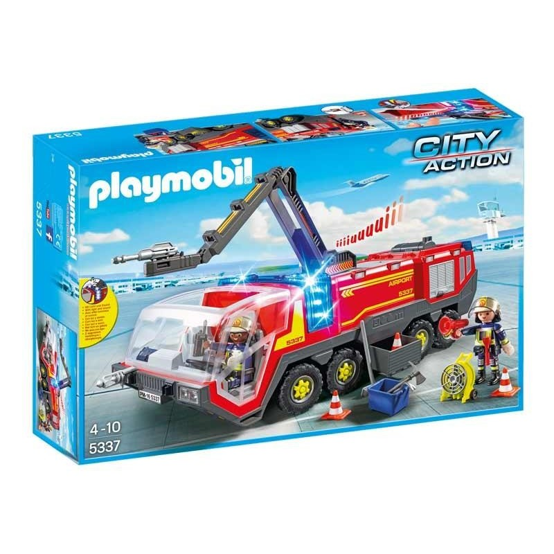 Playmobil City Action Camion Bomberos Aeropuerto