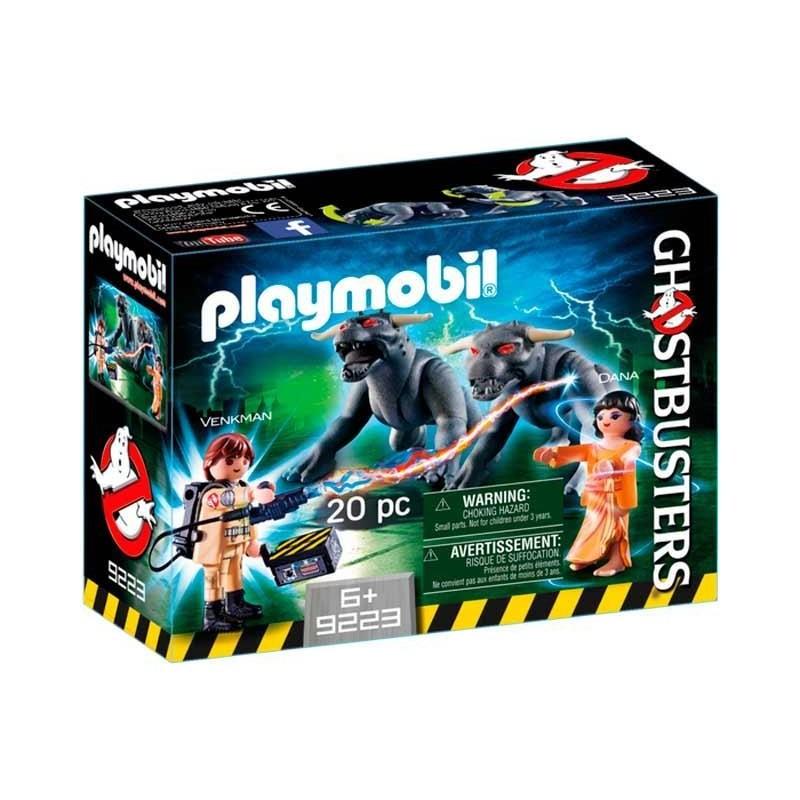 Playmobil Ghostbuster Venkman, Dana y Perros Gozer