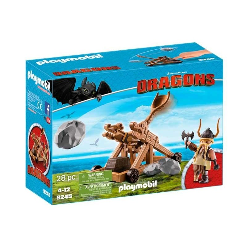 Playmobil Dragons Bocón con Catapulta