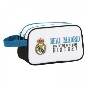 Real Madrid Neceser 2 Cremalleras Adaptable Carro