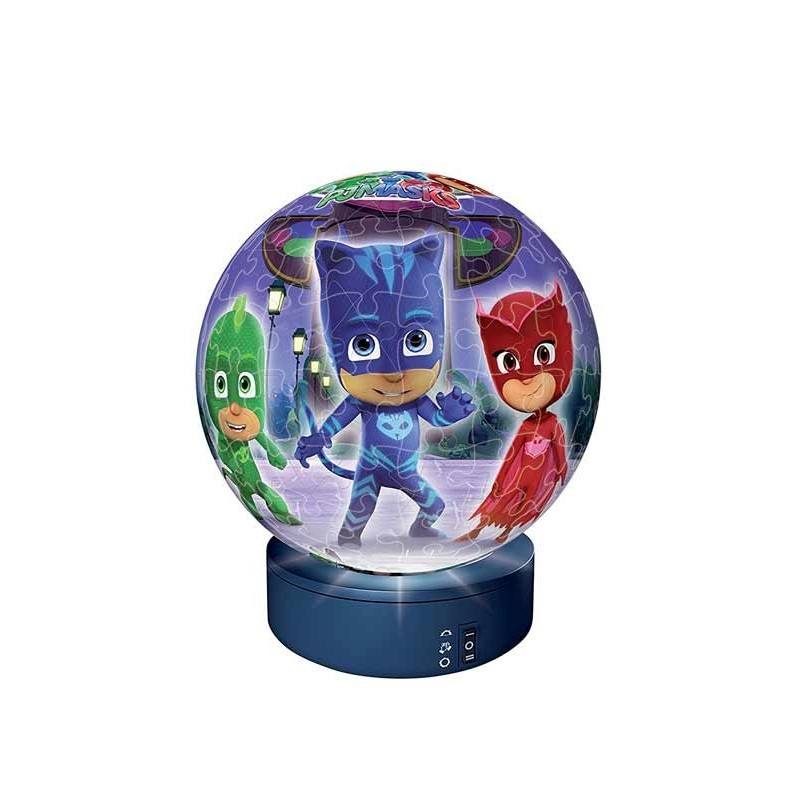 Pj Mask Puzzle Ball 3D Lámpara