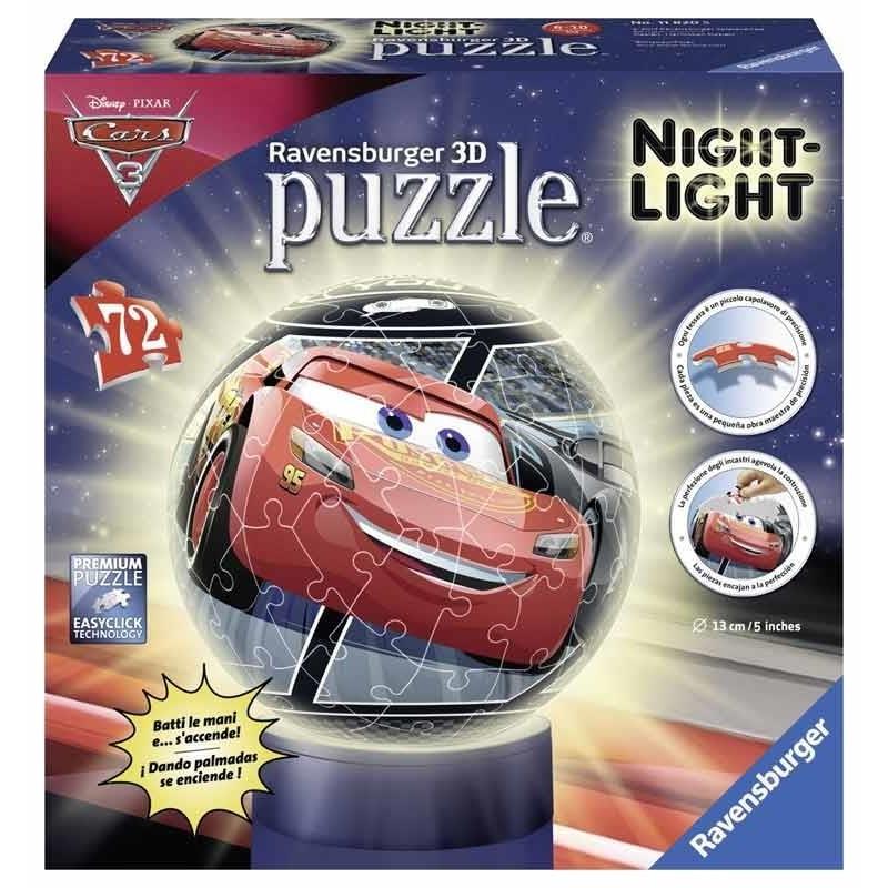 Cars 3 Puzzle Ball 3D Lámpara