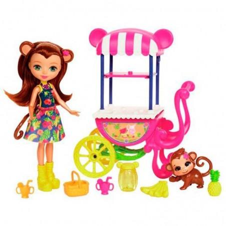 Enchantimals Vehículo, Muñeca y Mascota