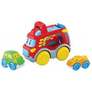 Camión con dos Coches