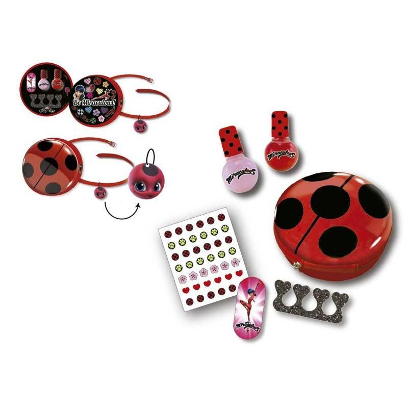 Ladybug Miraculous Bolsa de Belleza y Manicura