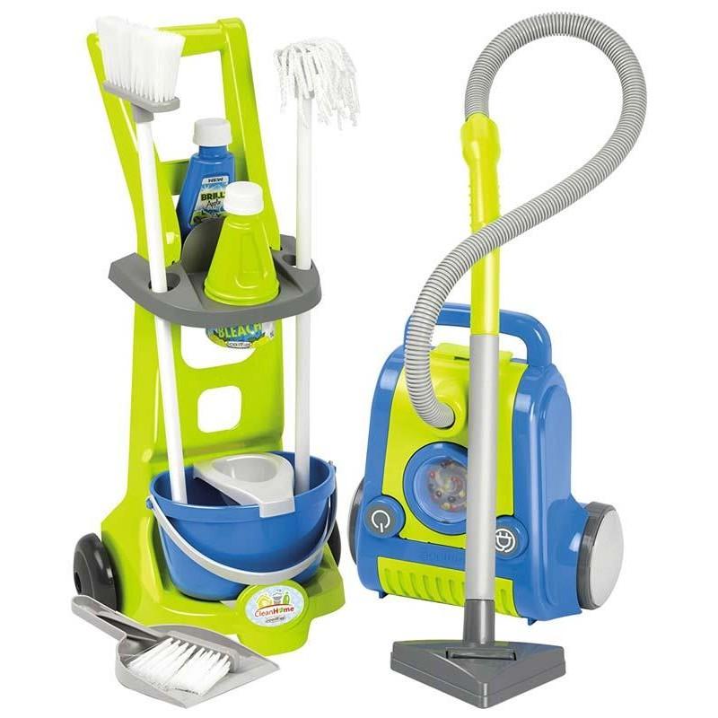 Ecoiffier Carrito de limpieza y Aspiradora