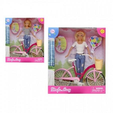 Muñeca con Bicicleta