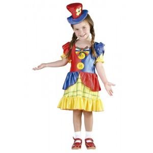 Disfraz de payasa de niña XS