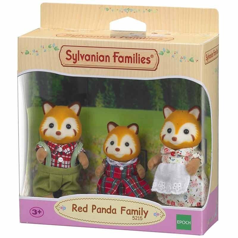 Sylvanian Families Familia de Pandas Rojos