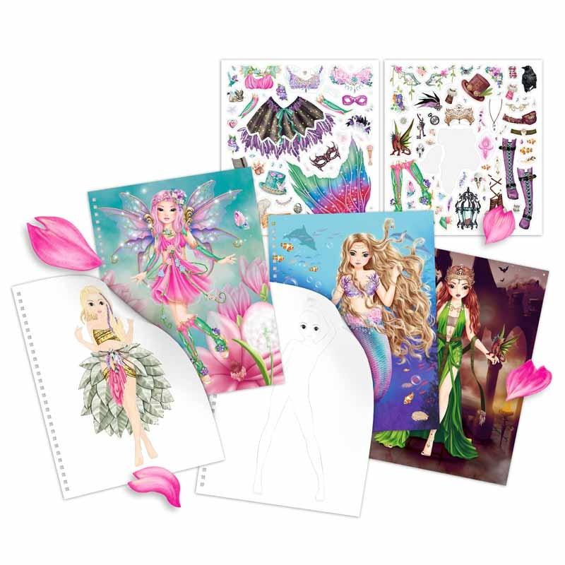 Top Model Libro de Colorear Fantasy Model