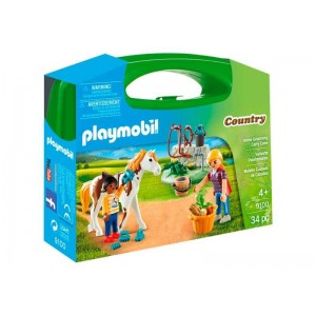 Playmobil Country Maletín Cuidado de Caballos
