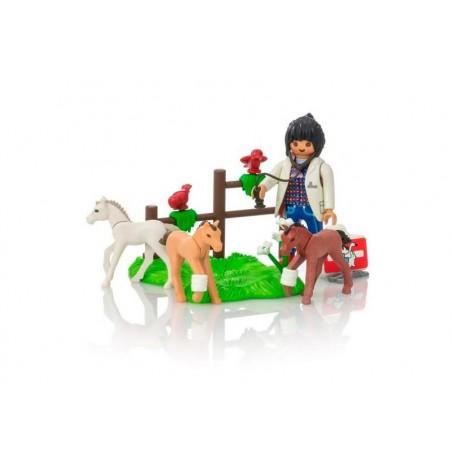 Playmobil Veterinaria con Ponis