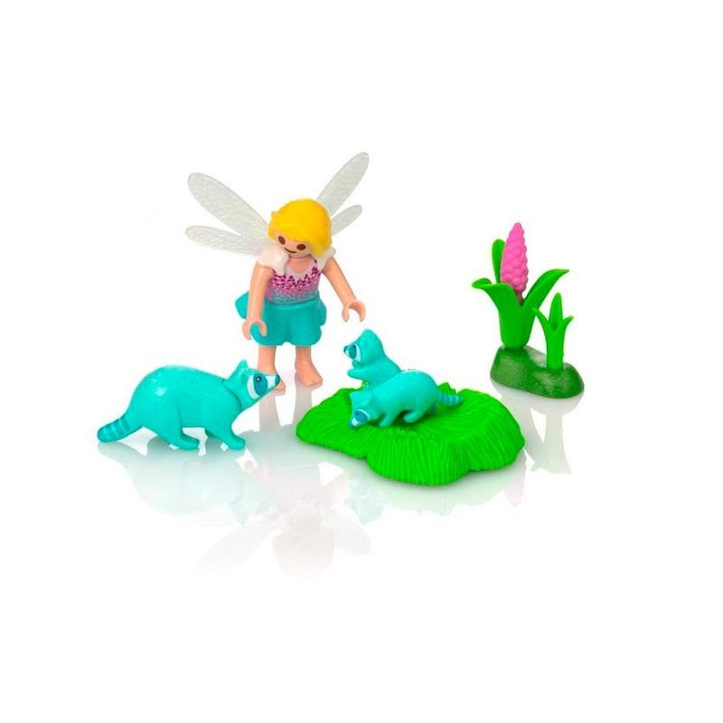 Playmobil Fairies Niña Hada con Mapaches