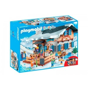 Playmobil Family Fun Cabaña de Esquí