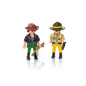 Playmobil Duo Pack Ranger y Cazador Furtivo