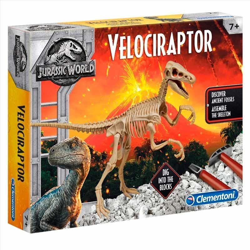 Jurassic World Velociraptor con Escenario