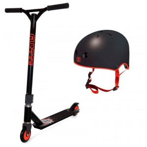 Patinete Freestyle y Casco