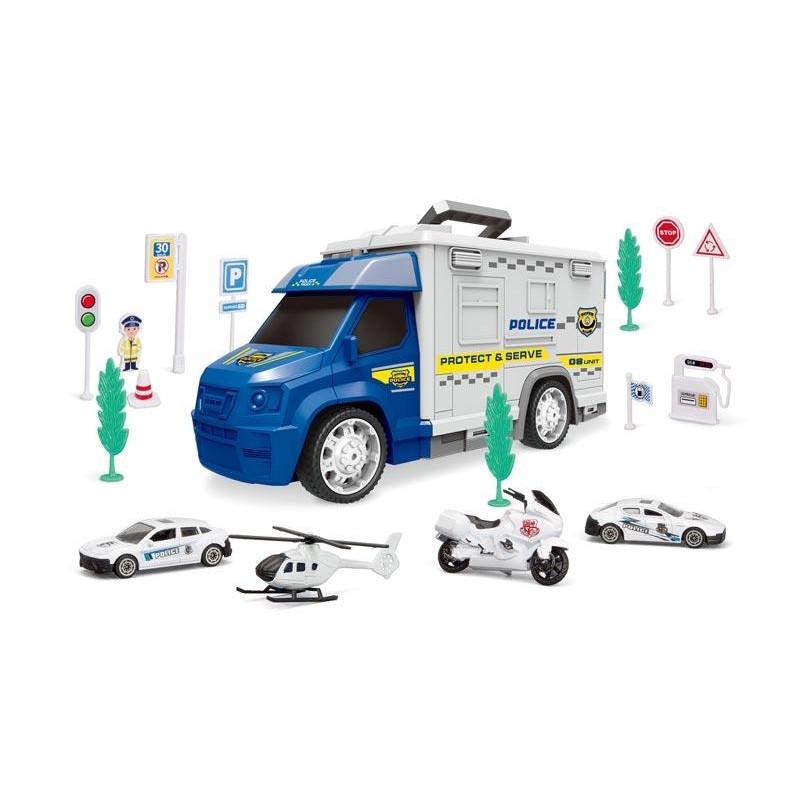 Set Coches de Policia y Parking