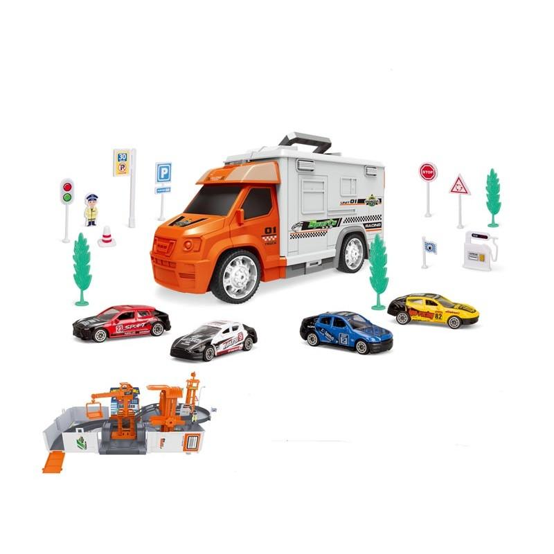 Set Coches de Carreras y  Parking