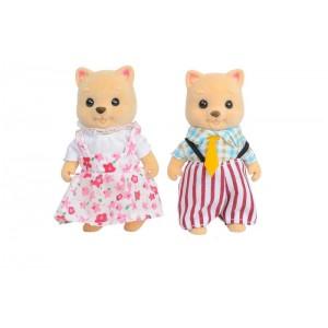 Familia de Gatos Mini Figuras