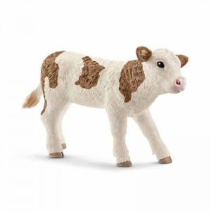 Schleich Farm World Ternero de raza Fleckvieh