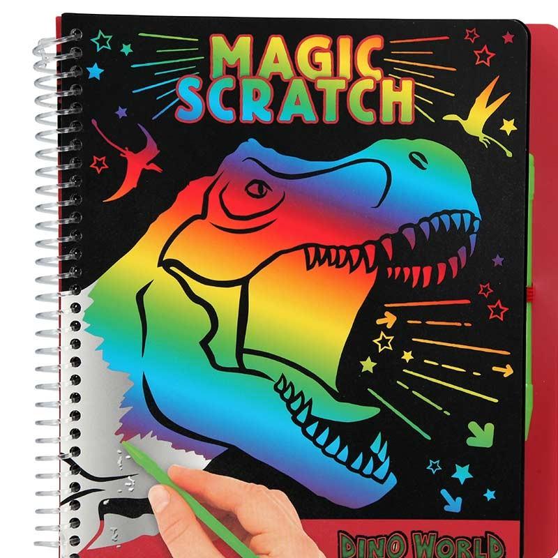Dino World Cuaderno Magic-Scratch